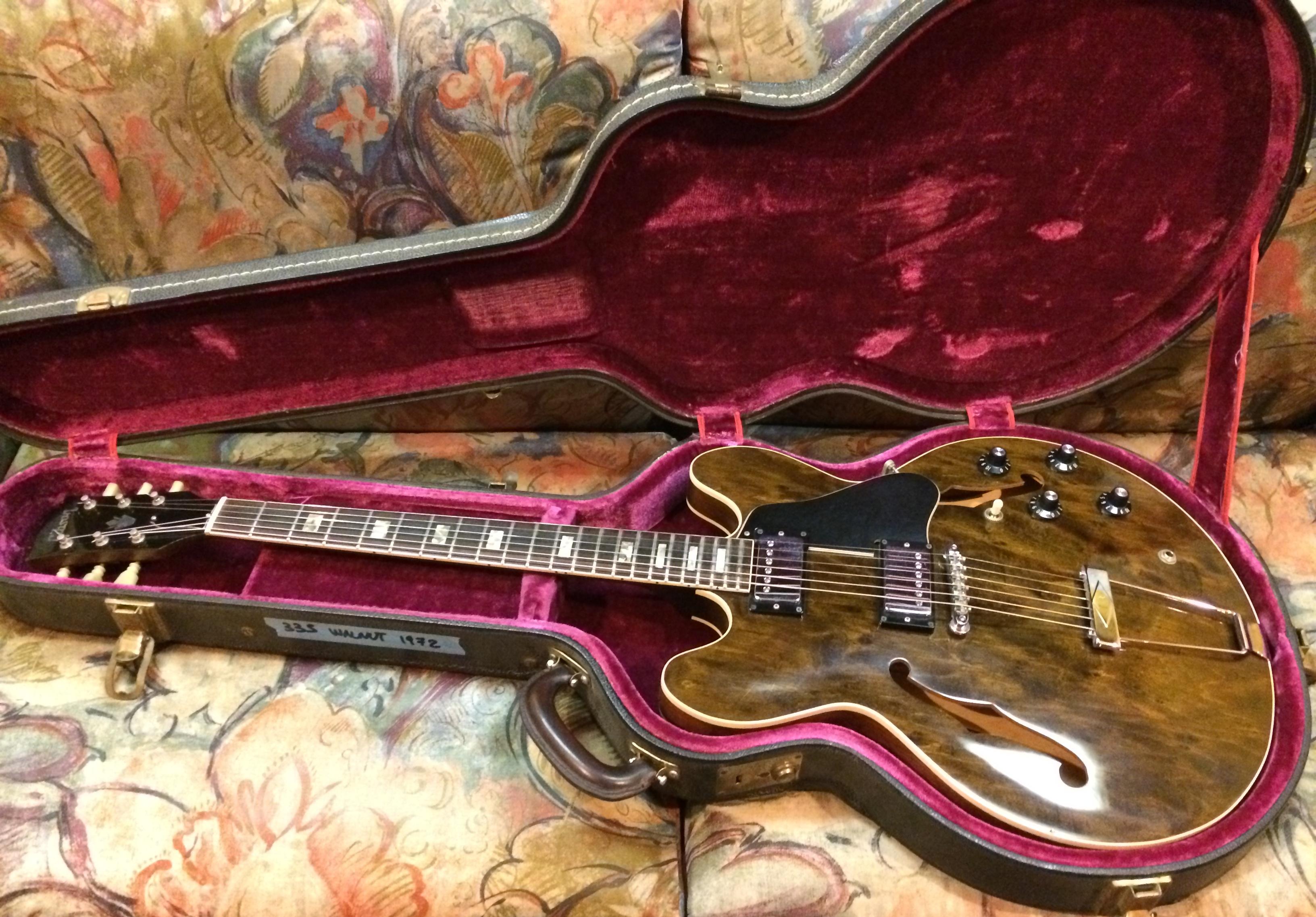 gibson es 335 1972 walnut guitar for sale. Black Bedroom Furniture Sets. Home Design Ideas