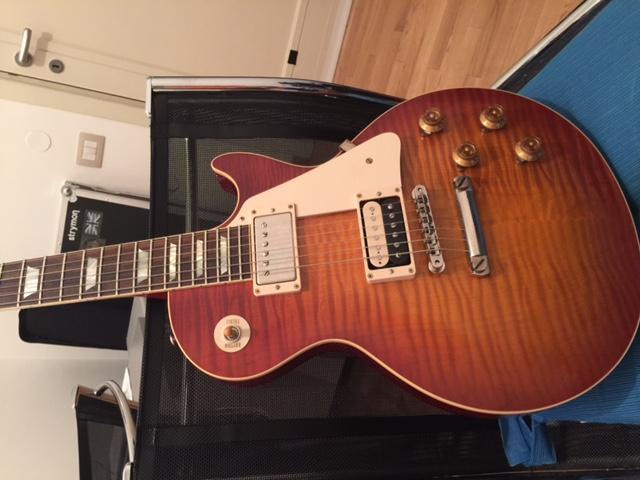 gibson les paul standard 59 made 2 measure 2015 sunburst guitar for sale. Black Bedroom Furniture Sets. Home Design Ideas