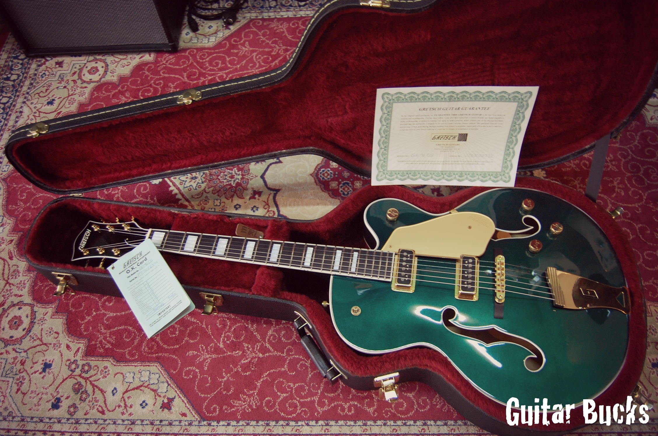 Gretsch 6196CG Country Club 2003 Cadillac Green Guitar