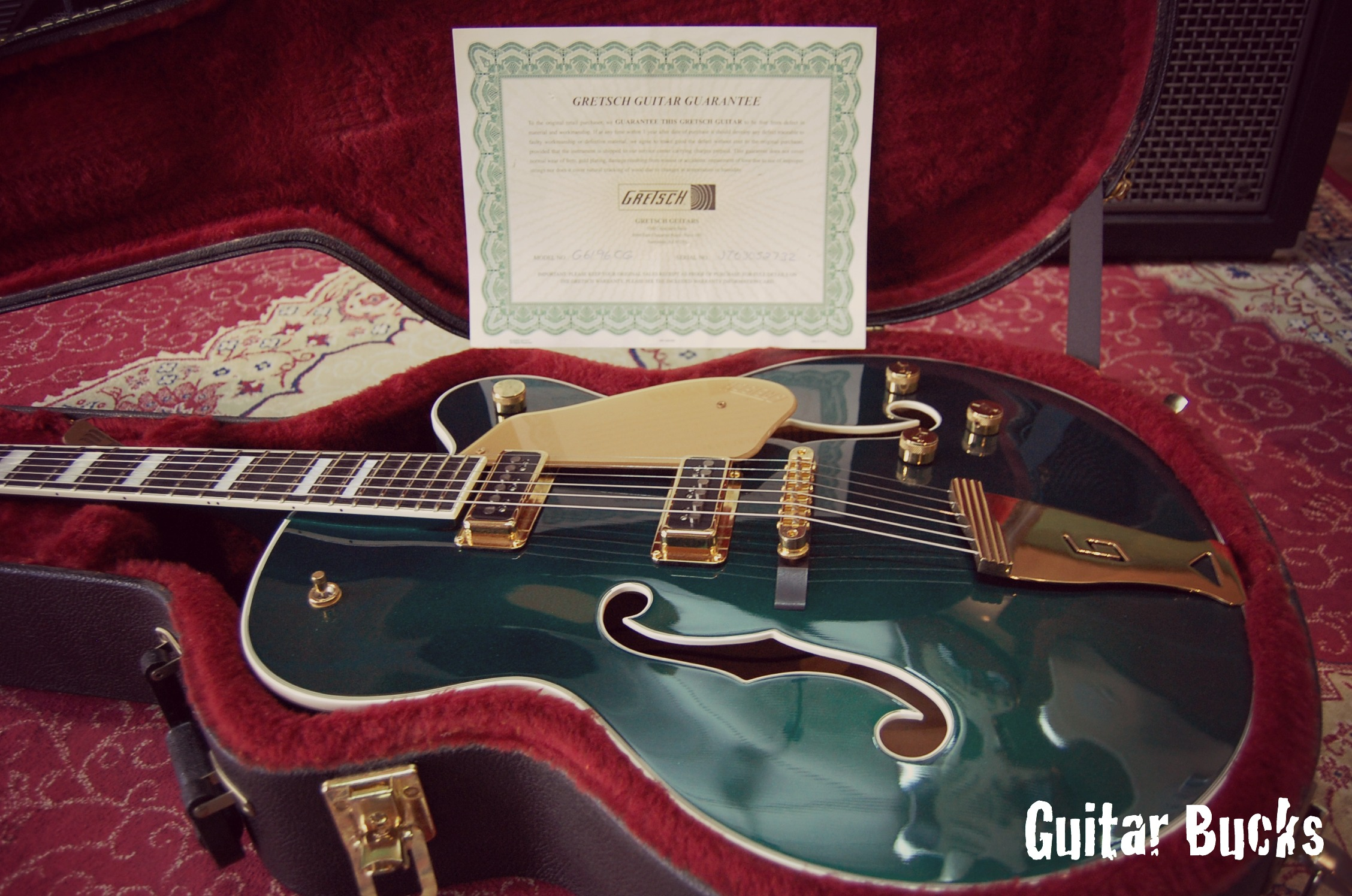 Gretsch 6196CG Country Club 2003 Cadillac Green Guitar