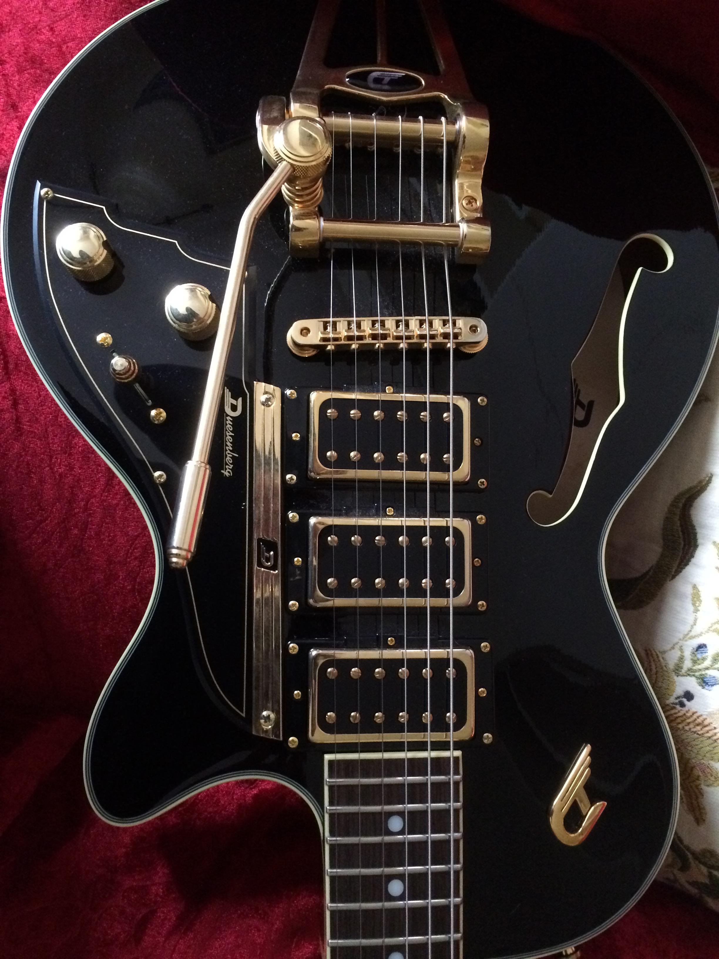 duesenberg starplayer tv custom 2014 black guitar for sale. Black Bedroom Furniture Sets. Home Design Ideas