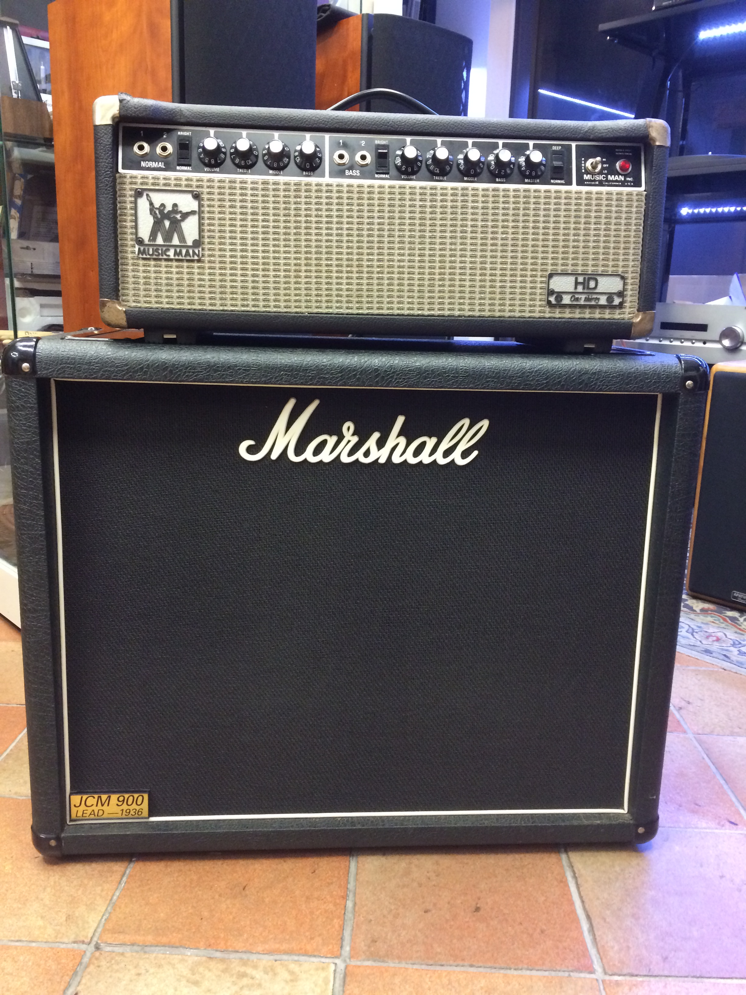 music man hd 120 tube electric guitar amplifier amp head 1970. Black Bedroom Furniture Sets. Home Design Ideas