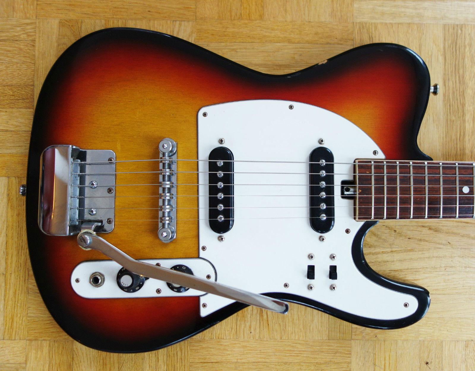 teisco telecaster style 1960 39 s sunburst guitar for sale. Black Bedroom Furniture Sets. Home Design Ideas