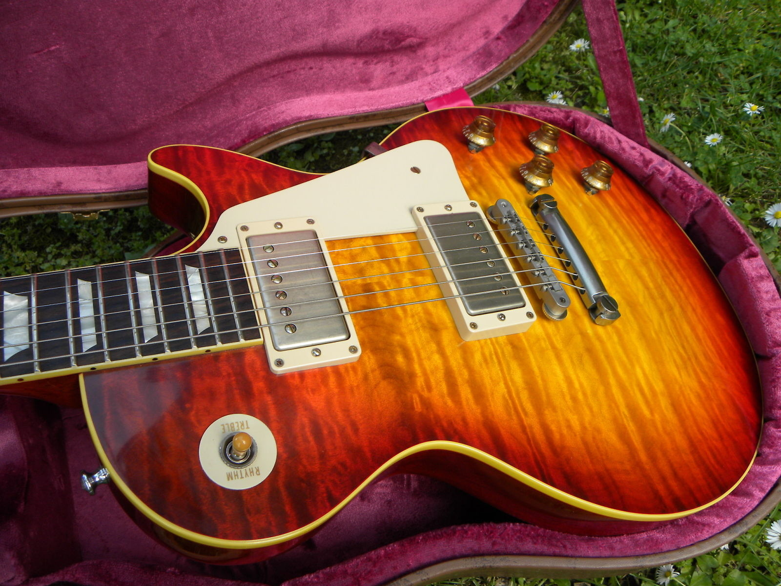 gibson les paul 1959 20th anniversary aaaaa top murphy burst 2013 murphy burst guitar for sale. Black Bedroom Furniture Sets. Home Design Ideas