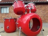 Meinl Wood Fiberglass Drumkit Red