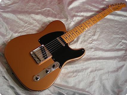 fender telecaster fender 39 52 vintage reissue tele 1997 copper guitar for sale. Black Bedroom Furniture Sets. Home Design Ideas