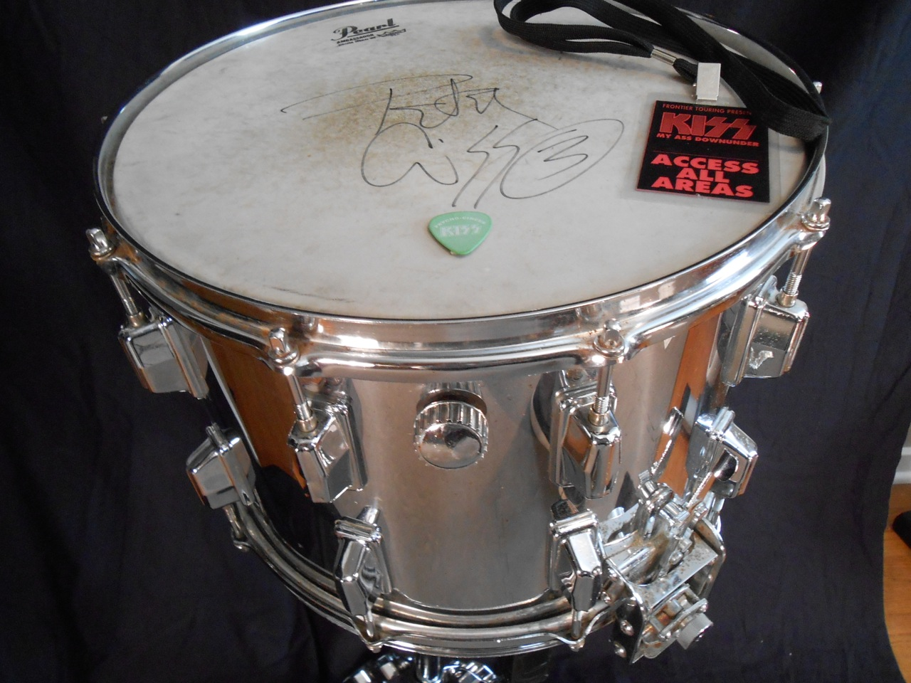 pearl kiss love gun tour snare drum 1977 drum percussion for sale. Black Bedroom Furniture Sets. Home Design Ideas