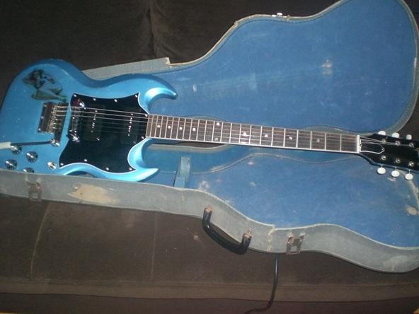 gibson sg special 1968 pelham blue refin guitar. Black Bedroom Furniture Sets. Home Design Ideas
