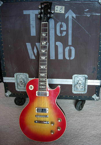 gibson pete townshend 39 s 3 les paul deluxe 1973 guitar for sale rock stars guitars. Black Bedroom Furniture Sets. Home Design Ideas