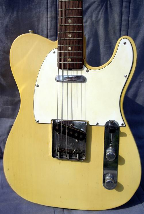fender telecaster 1965 white blond guitar for sale hendrix guitars. Black Bedroom Furniture Sets. Home Design Ideas