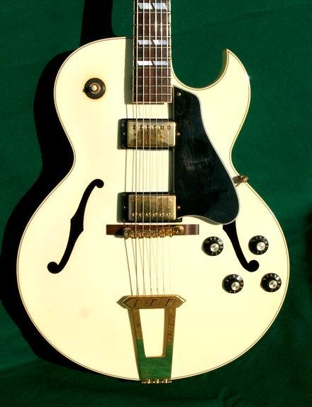gibson es175d es 175 1988 white gold parts guitar for sale hendrix guitars. Black Bedroom Furniture Sets. Home Design Ideas