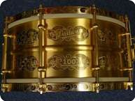 Ludwig 100th Anniversary Gold Triumphal Snaredrum 2011 Gold Plated Handgraviert