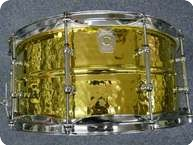 Ludwig USA Hammered Brass Snaredrum LB422BKT 2011
