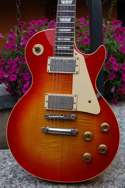 gibson les paul standard 1960 cherry sunburst guitar for sale real vintage. Black Bedroom Furniture Sets. Home Design Ideas