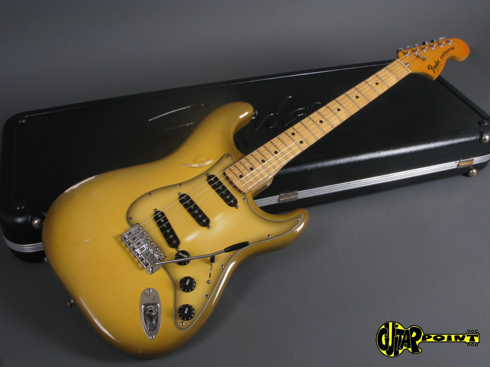 fender stratocaster 1979 antigua guitar for sale guitarpoint. Black Bedroom Furniture Sets. Home Design Ideas