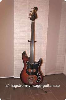 Hagstrom Scanbass 1979 Brownburst