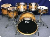 Dw 40th Anniversary Limited Edition Drumset 2011 Candy Black Pearlescent Burst Over Exotic Tamo Ash
