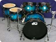 Dw DW Collectors Laquer Specialty Drumset 2012 Regal Blue To Black Burst