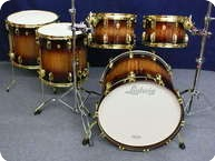 Ludwig Legacy Exotic Drumset 2012 Mahogany Burst Over Black Limba