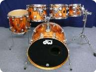 Dw DW Collectors Birch Series Exotic Drumset 2002 Red Cedar High Gloss