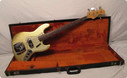 Fender Jazz Bass 1964 Gold Sparkle