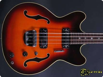 Hoyer Semiacoustic Bass 1967 Sunburst