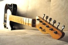 LsL Lance Lerman Guitars T Bone Swamp Ash TITA Black 2012 Black