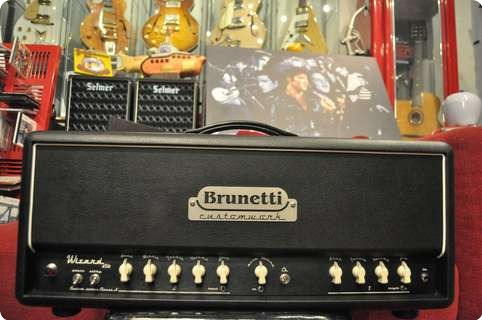 Brunetti  Custom Works Wizard Hand Wired  Serial Number 006 2013 Black