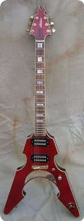 Alden Alden Guitar Flyinf V Made In Usa Custom Shop   2000 Cherry