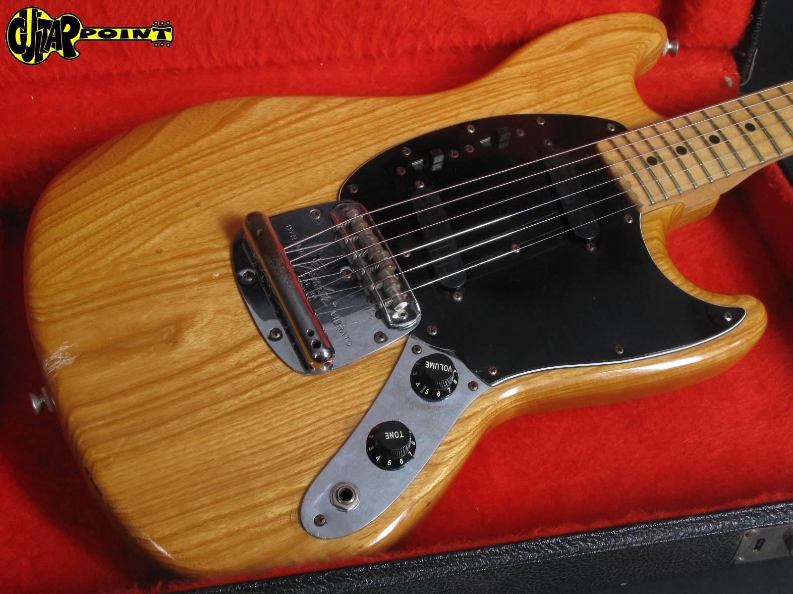 fender mustang 1978 natural guitar for sale guitarpoint. Black Bedroom Furniture Sets. Home Design Ideas