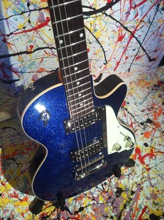 duesenberg starplayer special 2012 blue sparkle guitar for sale jobfactory musicstore. Black Bedroom Furniture Sets. Home Design Ideas
