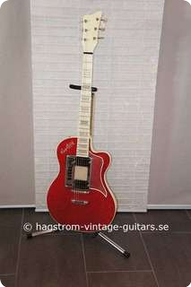 Hagstrom De Luxe 90 1960 Red Sparkle/ White Pearl