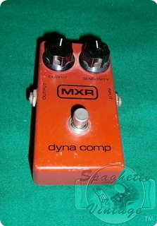 Mxr Dynacomp Block Logo 1978 Red