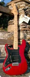 Fender Stratocaster Lefty 1978 Cimarron Red Rare Color