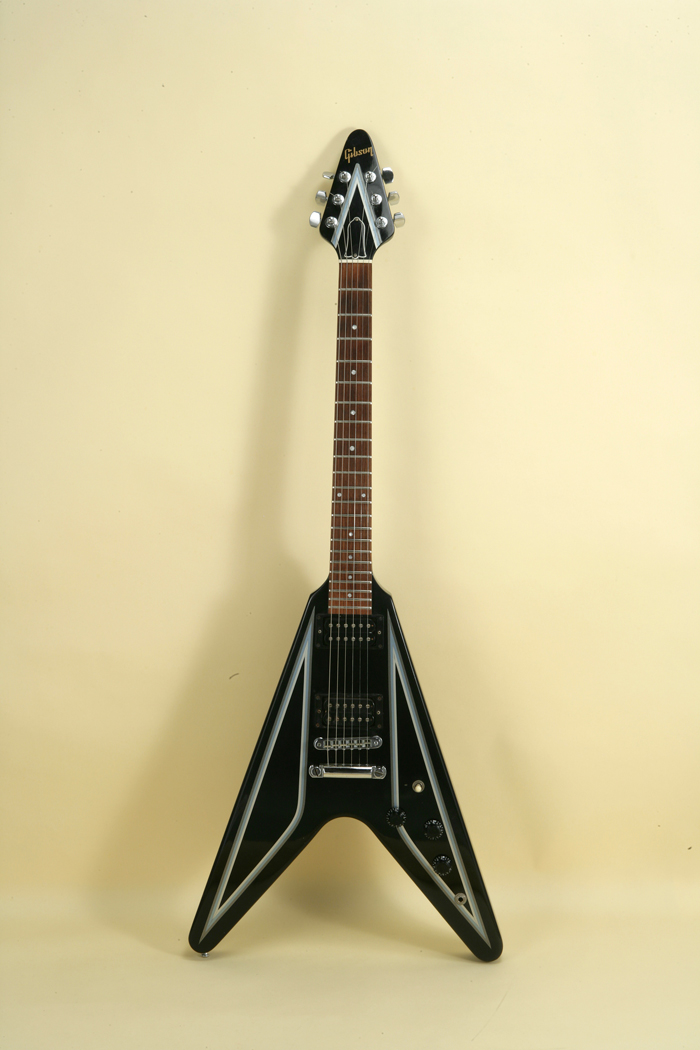 gibson flying v designer series 1984 black guitar for sale jay rosen music. Black Bedroom Furniture Sets. Home Design Ideas