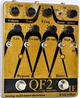 Iron Ether Qf2 Analog Multiband Distortion Gold = Guitar