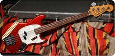 Fender MUSTANG BASS 1973 CANDY APPLE RED