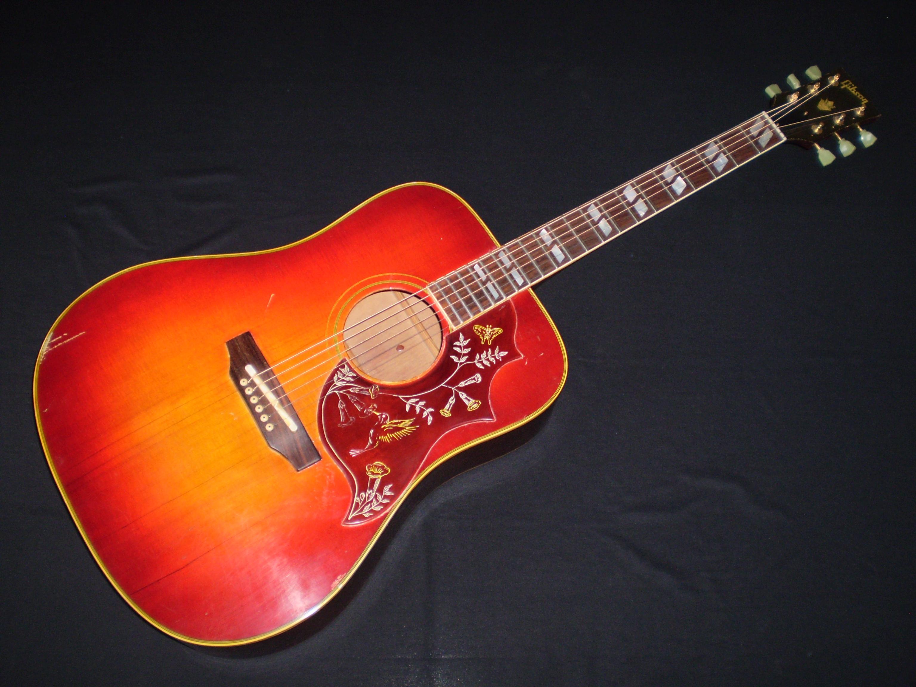 gibson hummingbird 1968 sunburst guitar for sale glenns guitars. Black Bedroom Furniture Sets. Home Design Ideas