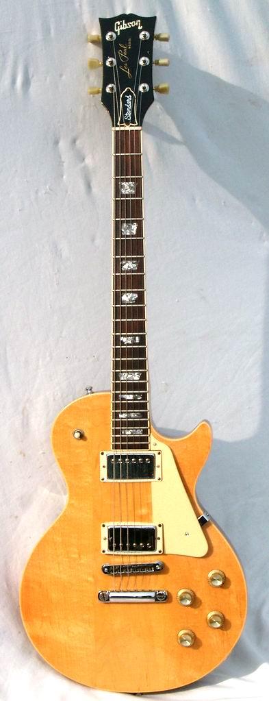 gibson les paul standard 1976 natural blond guitar for sale hendrix guitars. Black Bedroom Furniture Sets. Home Design Ideas