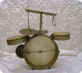 Vintage Childs Drum Kit Cased Wood