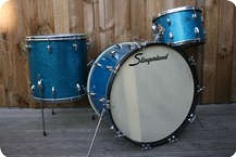 Slingerland Drum Co Gene Krupa Deluxe 1955 Original Aqua Sparkle