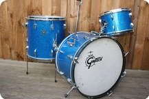 Gretsch Roundbadge 20 12 16 Snare Original Blue Sparkle