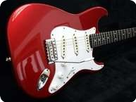 Smitty Guitars Custom S Style Candy Apple Red