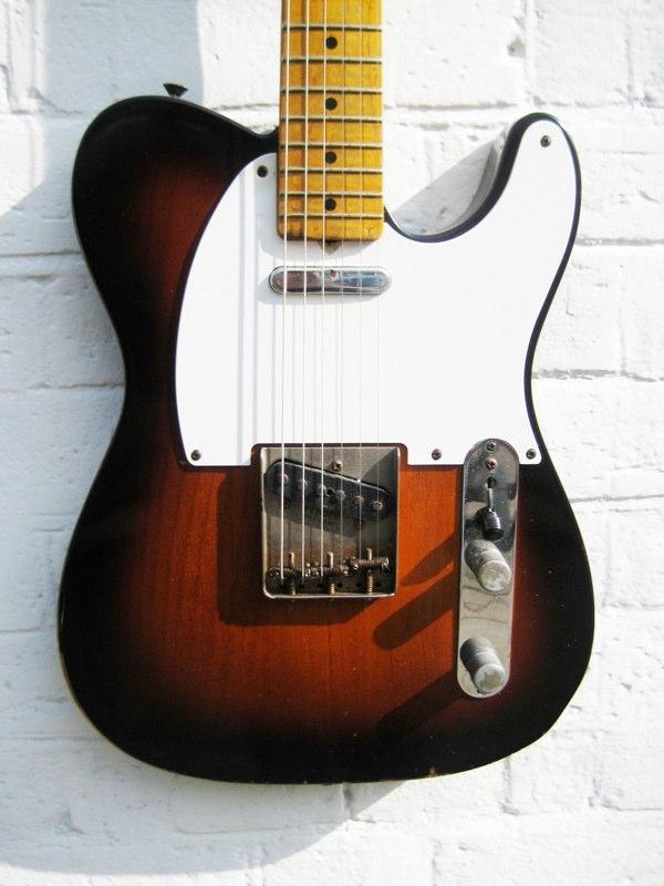 fender telecaster 1957 sunbrust guitar for sale new kings road guitars. Black Bedroom Furniture Sets. Home Design Ideas
