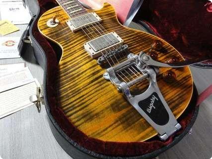 Gibson Standard Joe Perry Boneyard Bigsby Custom Shop 2003 Aged Tiger