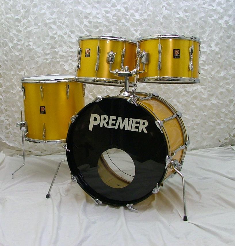 premier elite 1970 39 s polychromatic gold drum percussion for sale nick hopkin drums. Black Bedroom Furniture Sets. Home Design Ideas
