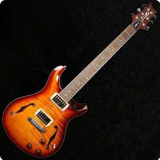 Prs Hollowbody Ii 25th Anniversary 10 Top/back Flame With Piezo   Smoked Amber   Sold