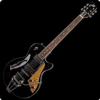 Duesenberg Starplayer Tv Semi Hollow Electric Guitar   Black With Case   Sold