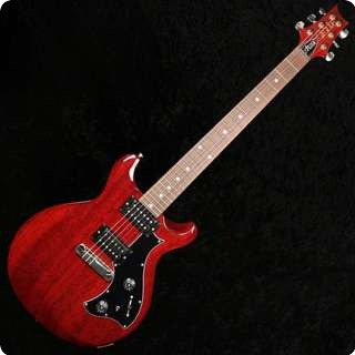Prs Mira 2011 Model Vintage Cherry Electric Guitar With Dots, V12 Finish, Hard Case