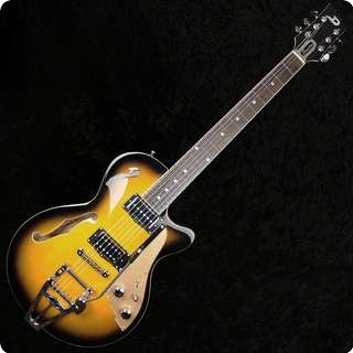 Duesenberg Starplayer Tv Semi Hollow Electric Guitar 2 Tone Sunburst With Case   Sold
